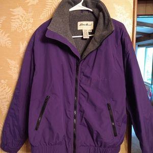 Eddie Bauer purple zip up jacket
